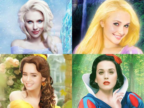 Keren! Desainer Grafis Indonesia Ini Buat Poster Disney Dari Aktris Terkenal Hollywood!