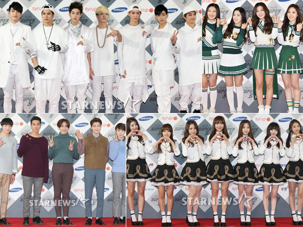 Grup Rookie SM, YG, JYP, dan Woollim Entertainment Kolaborasi di SBS 'Music Festival 2014'