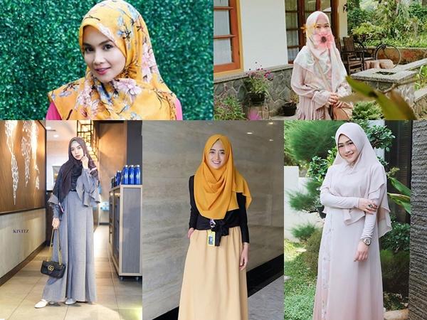 Intip Fashion Hijab Syar'I Namun Tetap Stylish a La Selebgram