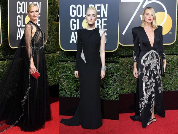 Stunning Tampil All-Black, Inilah Seleb Hollywood dengan Busana Terbaik di Golden Globes 2018