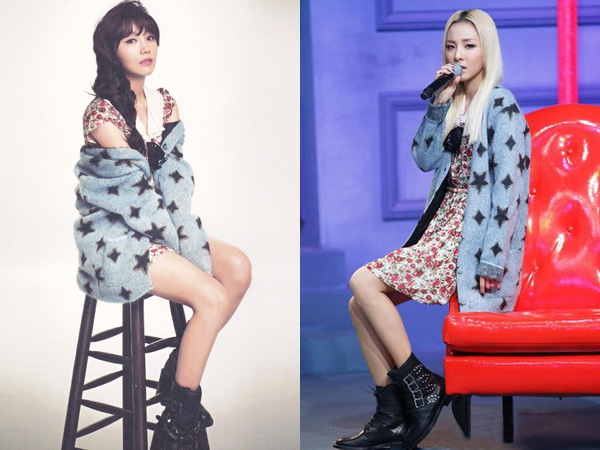 Sweater Dress Kembar Eunji A Pink vs Dara 2NE1, Who Wore It Better?
