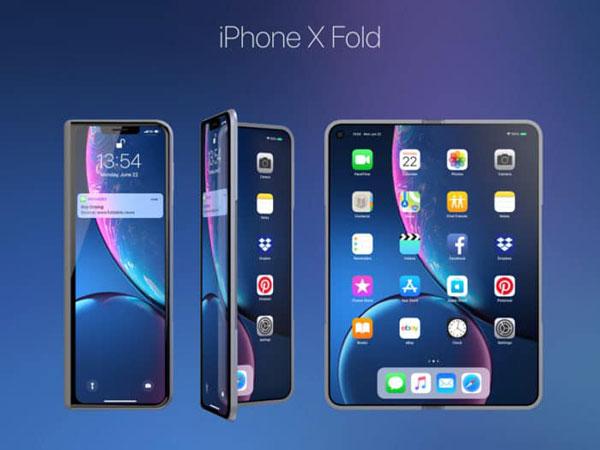 Begini Gambaran Konsep Ponsel Lipat Apple Iphone X Fold