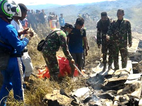 Hercules TNI AU Jatuh di Wamena Papua, 13 Orang Dinyatakan Meninggal Dunia