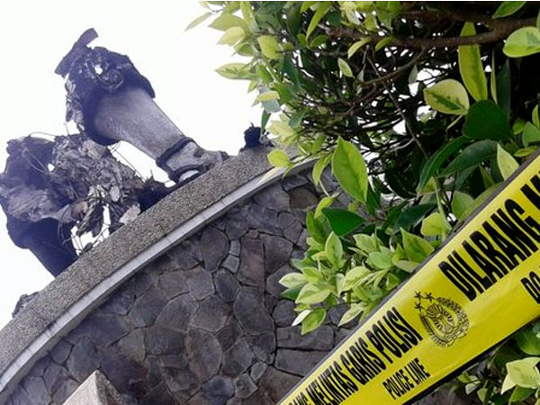 Duh, Patung Ikon Wisata di Purwakarta Dibakar Orang Tak Dikenal