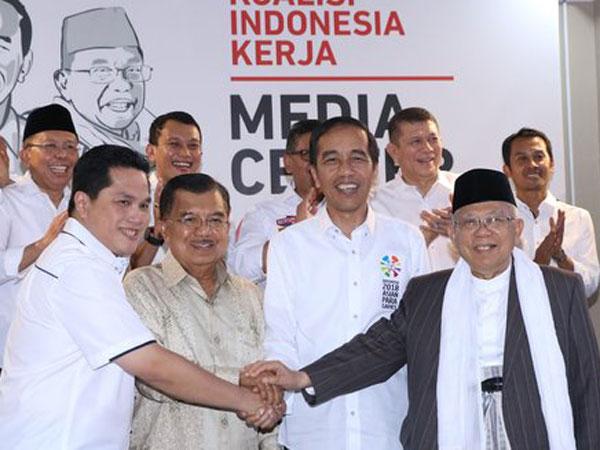 Dinakhkodai Erick Thohir, Inilah Daftar Lengkap Susunan Timses Jokowi-Ma'ruf di Pilpres 2019