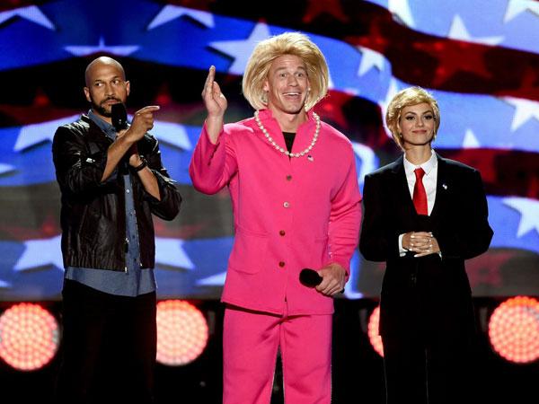 John Cena dan Victoria Justice Berpakaian ala Calon Presiden Amerika, Siapa Pilihan Para Remaja?