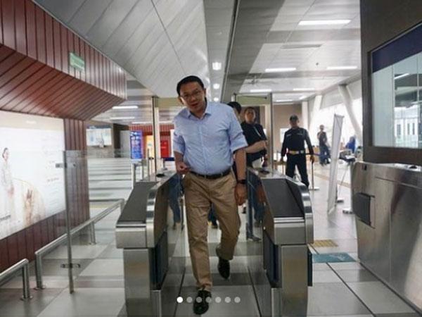 Heboh Masyarakat Bertemu Ahok yang Pertama Kali Jajal MRT Jakarta