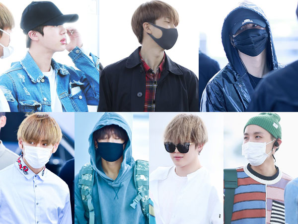 Uniknya Perbedaan Selera Fashion Member BTS Saat di Bandara Menuju Jakarta