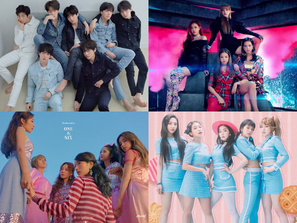 BTS dan BLACKPINK Bertahan, A Pink dan Red Velvet Debut di Chart Billboard World Albums