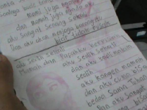 Anak yang Diajak Bunuh Diri Oleh Ayahnya Ini Sempat Tuliskan Curhatan di Buku Harian