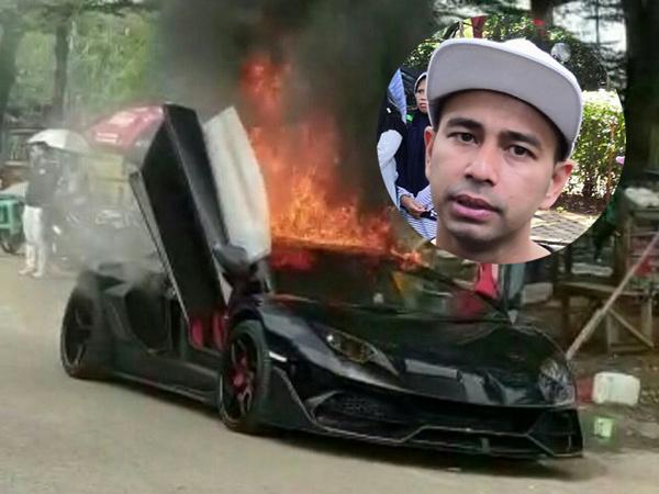 Lamborghini 'Batman' Miliknya Terbakar, Raffi Ahmad: Allah akan Kasih yang Lebih Baik