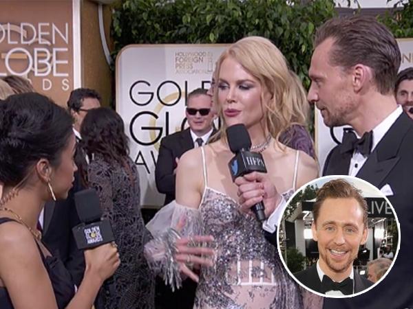 Terlihat Canggung, Nicole Kidman Ganggu Wawancara Tom Hiddleston di Golden Globes
