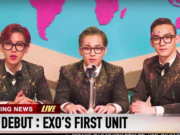 Bertransformasi Jadi Penyiar Berita, Tiga Member EXO Umumkan Debut Sub Unitnya