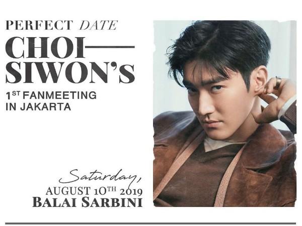 Choi Siwon Siap Gelar Jumpa Fans Solo Perdana di Jakarta Bulan Depan