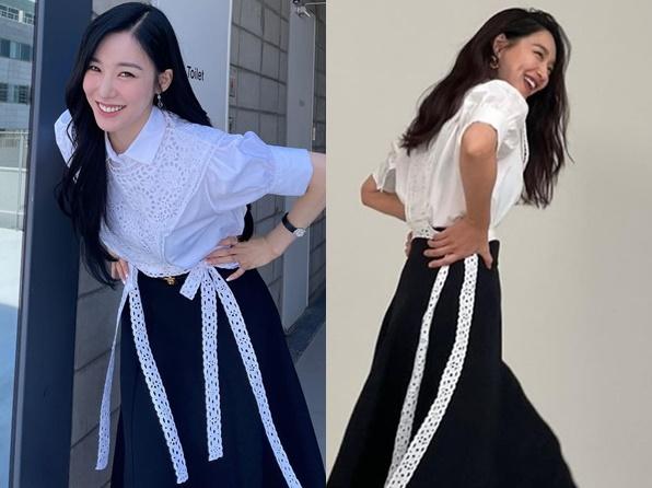 Gaya Kembar Shin Min Ah dan Tiffany SNSD, Siapa Paling Cocok?