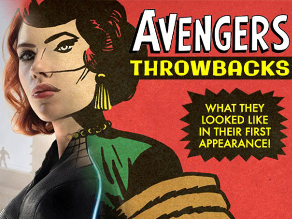 Uniknya Foto Karakter 'The Avengers: Age of Ultron' Dulu Dan Sekarang