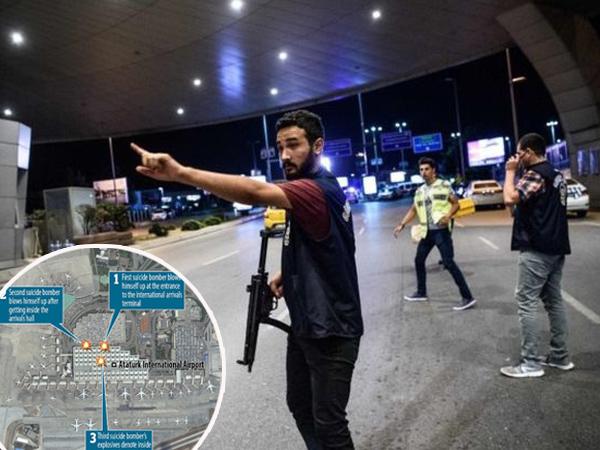 Sempat Terjatuh, CCTV Rekam Pelaku Meledakkan Diri Di Bandara Attaturk Turki