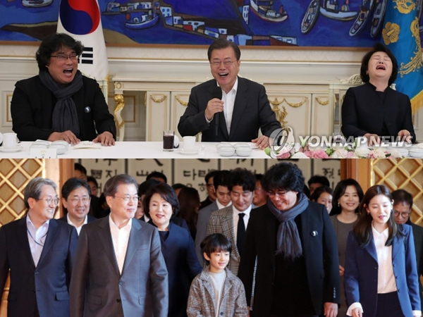 Sutradara dan Pemain 'Parasite' Penuhi Undangan Khusus Presiden Moon Jae In