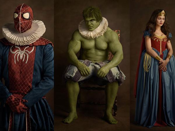 Unik, Fotografer Ini Ubah Berbagai Tokoh Super Hero Ke Abad 16!