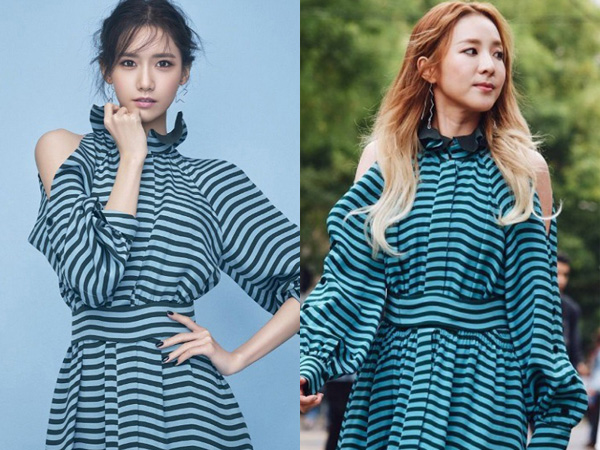 Stripes Dress Kembar YoonA SNSD vs Dara 2NE1, Who Wore It Better?
