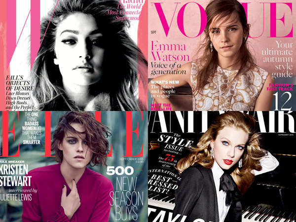 Para Bintang Ternama Dunia Kompak Hiasi Berbagai Sampul Majalah Sepanjang September!