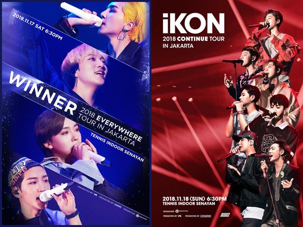 Paling Murah 1 Juta, Ini Detail Harga Tiket dan Seatplan Konser WINNER dan iKON di Jakarta