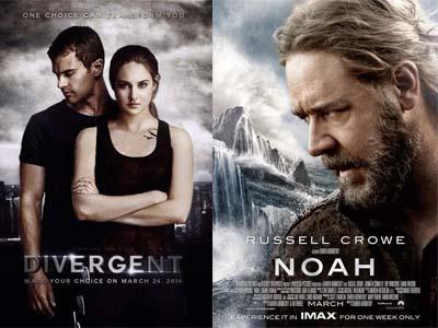 Kalahkah 'Divergent', Film 'Noah' Sukses di Puncak Box Office Amerika!