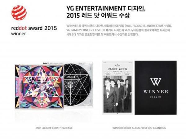 Design Album Para Artis YG Entertainment Raih Penghargaan di 'Red Dot Design Award'!