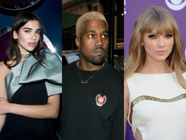 Terkenal Berseteru, Dua Lipa Dianggap Lebih Pilih Kanye West Dibanding Taylor Swift?