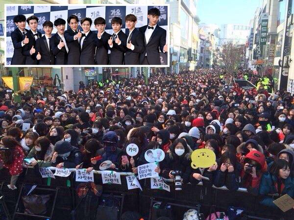 Dihadiri 30 Ribu Fans, Acara Fan Signing EXO Dikawal Ketat Kepolisian