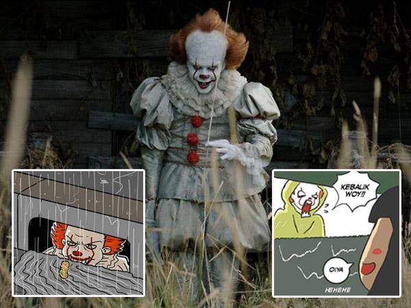 Ramai Meme dan Komik Strip dari Film Laris 'It', Kreatif dan Kocak Banget!