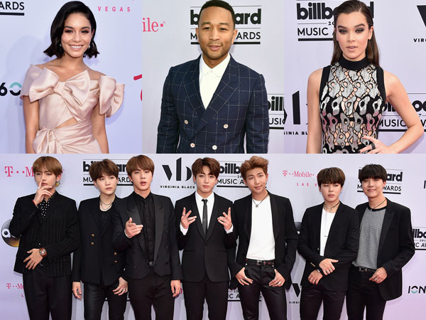 Vanessa Hudgens Hingga BTS Masuk Daftar Busana Terbaik di Magenta Carpet BBMAs 2017!
