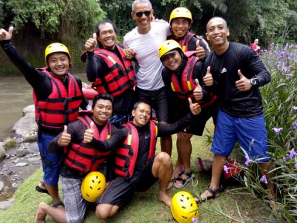 Ini Biaya yang Dihabiskan Obama Saat Lakukan Rafting di Bali