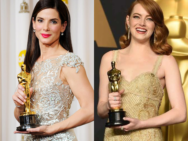 Serasi dengan Piala Oscar, Para Peraih 'Best Actress' Ini Tampil Stunning dengan Golden Dress