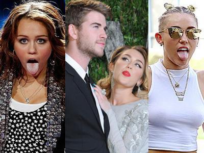 'Aksi Lidah' Miley Cyrus Dari Era Hannah Montana Hingga 2013