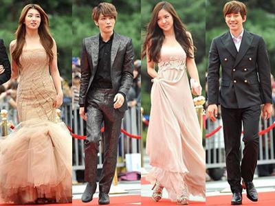 Hitam dan Pastel Warnai Gaya Karpet Merah Seoul Drama Awards 2013