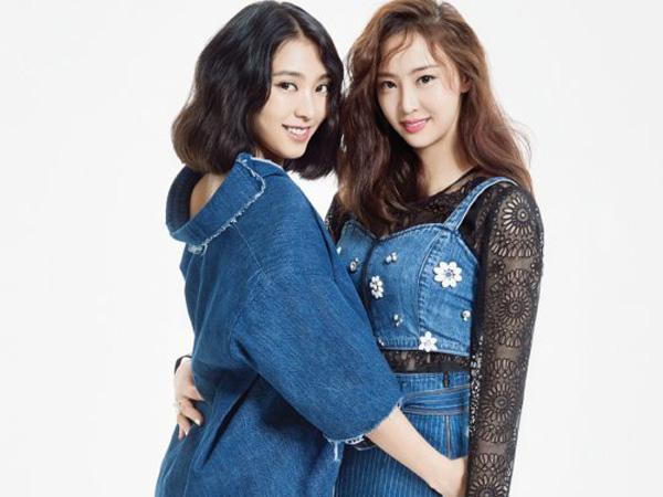 Bora dan Dasom Sistar Tampil Stylish dengan Denim Look di Pemotretan InStyle