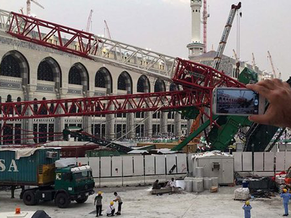 Arab Saudi Tindak Tegas Kontraktor Bin Ladin Atas Insiden Crane Masjidil Haram