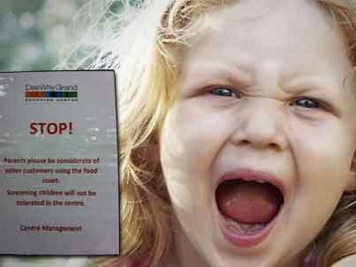 Stt...Anak-anak Dilarang Berisik di Mall Ini