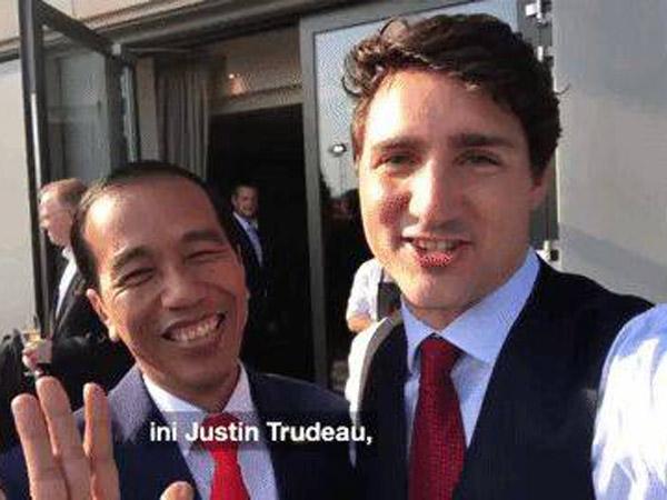 Pesan Manis dari VLOG 'Bromance' Presiden Jokowi dan PM Tampan Kanada Justin Trudeau