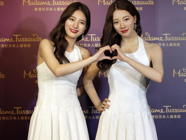 Suzy miss A Akhirnya Bertemu 'Kembaran'nya di Madame Tussauds Hong Kong!