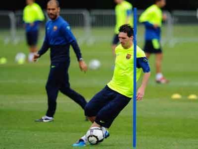 Barcelona vs PSG, Messi Mulai Latihan
