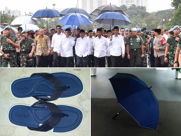 Makna Warna Navy Blue pada Payung dan Sandal Presiden Jokowi yang Jadi Perbincangan Netizen
