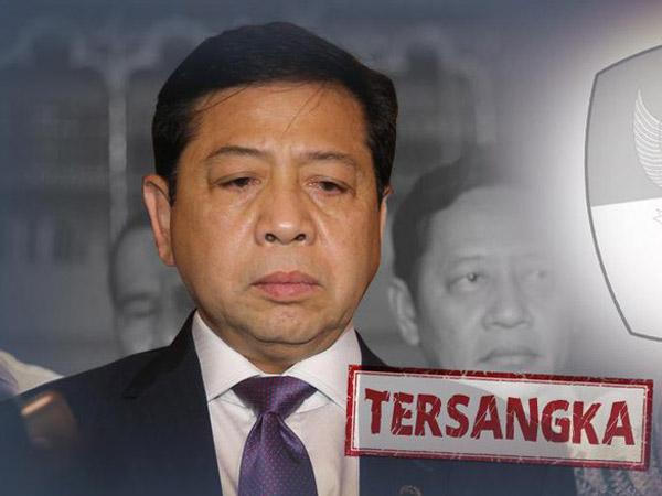 Setya Novanto Hilang dan Gagal Ditangkap KPK Tarik Perhatian Media Asing