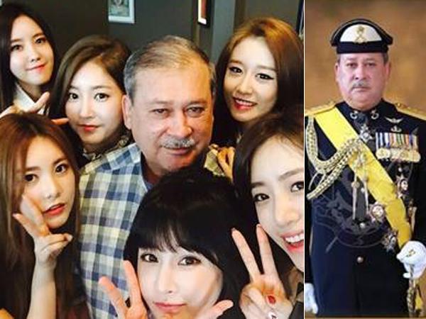 Diundang Makan Siang Oleh Kerajaan Malaysia, T-ara Tak Lupa Selfie Bareng Sang Sultan!