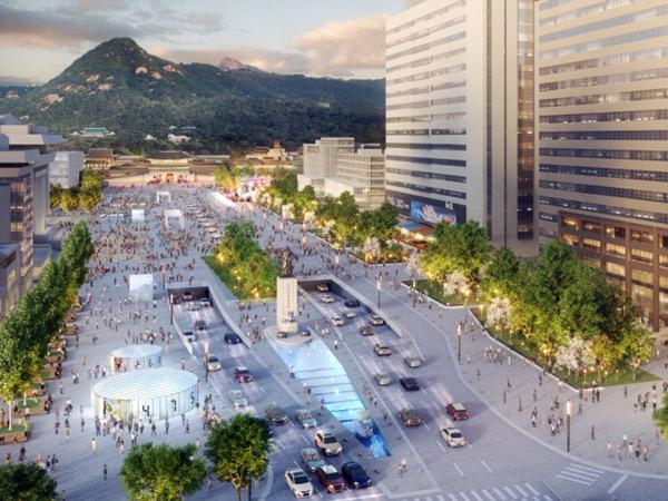 Seoul Mulai Renovasi Area Gwanghwamun Square