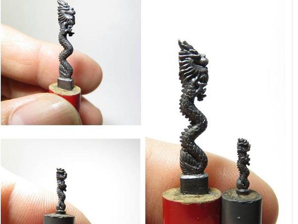 Hebat, Seniman Ini Membuat Karya Seni Pahatan Dari Isi Pensil