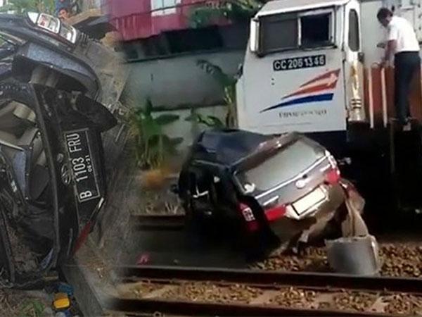 Kronologi Kecelakaan Tragis Mobil Avanza Ditabrak Kereta Api yang Tewaskan Pengemudi Seketika