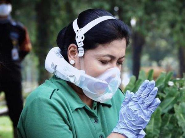 Viral Masker Unik yang Dipakai Istri KSAD Andika, Lebih Efektif Cegah Covid-19?