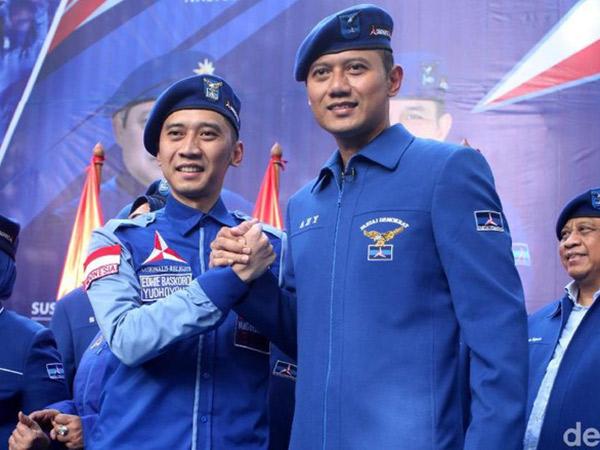 Mandat SBY Tunjuk Kedua Putranya 'Pimpin' Demokrat di Pilpres 2019